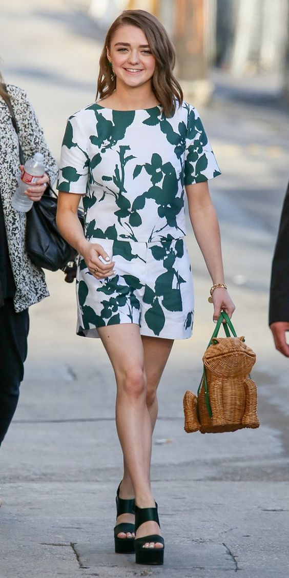You Have to See Maisie Williams' Adorable Wicker Purse (Kate Spade) via @WhoWhatWear: