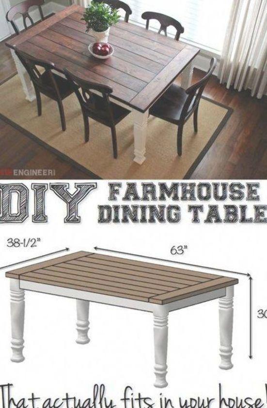 Diy Farmhouse Dining Table Plans Free Diy Plans