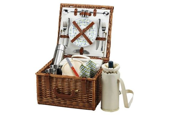Cheshire Basket w/ Coffee Service, Brown