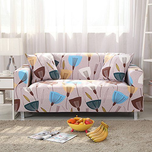Sure Fit Sofa Covers Stretch Sofa Slipcovers Elastic Floral Printed Anti Slip Polyester Fabric Furniture Protector C Sofa Covers Couch Covers Slipcovered Sofa