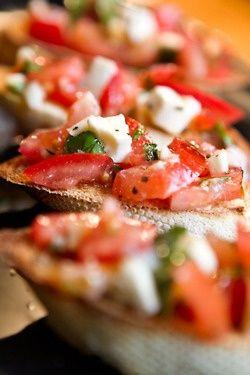 bruschetta recipe! | Yummy Things | Pinterest | Bruschetta, Bruschetta ...