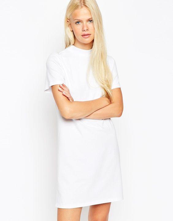 ASOS+T-Shirt+Dress+With+High+Neck