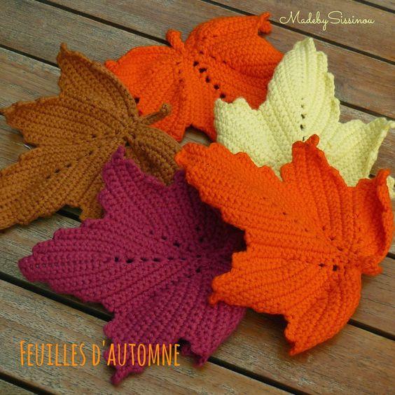 Made by Sissinou: Serial Crocheteuses N°241: Feuilles d'Automne