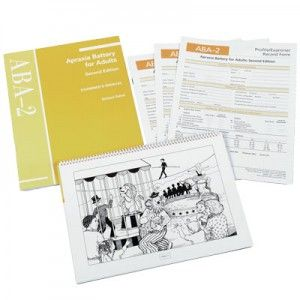 The objective scoring system of the ABA-2 provides the clinician with an initial step towards assessing recovery in relation to severity of apraxia.This individually administered test consists of six subtests that together take about 20 minutes to administer. Covers; Diadochokinetic rate, Increasing word length, Limb apraxia & oral apraxia, latency time & utterance time for polysyllabic words, repeated trials test, inventory of articulation characteristics of apraxia