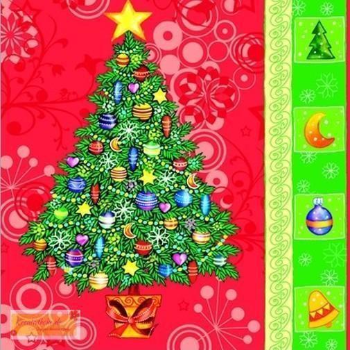4er SET Servietten xmas tree - Tannenbaum, Nepkin, Decopage,Cocktailservietten | eBay