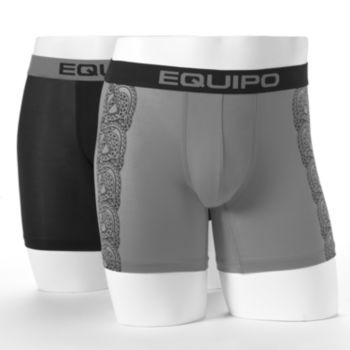 equipo 2-pk. Solid Tribal Print Boxers - Men