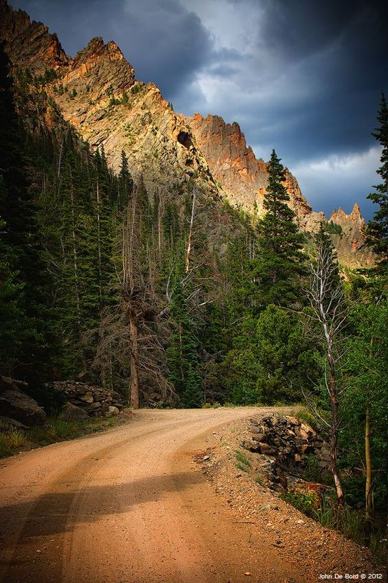 """Old Fall River Road"" Rocky Mountain National Park - Colorado Light Dancing"