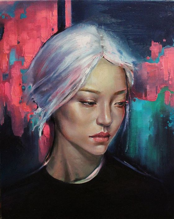 Amethyst Glow By Christina Bodnaruk Oil Painting Risunok