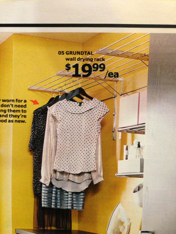 Hanging rack from ikea for back hallway laundry room - Hanging rack for laundry room ...