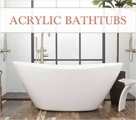 Acrylic Bathtubs Vs Cast Iron Bathtubs Acrylic Tub Bathtub