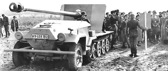 7,5 cm PaK 44 auf 3-ton Zugkraftwagen « Waffenträger » (Prototyp)