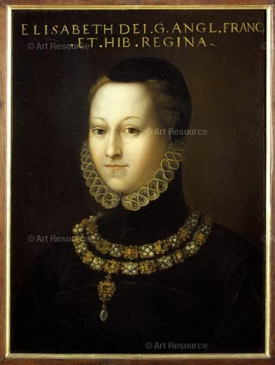 Anonymous, 16th century Queen Elizabeth I of England. Collection Gioviana. Location:Uffizi, Florence, Italy