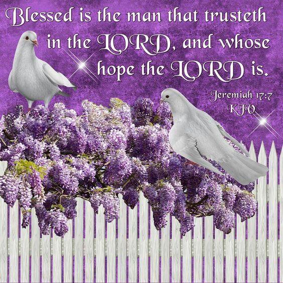 Jeremiah 17:7 KJV: