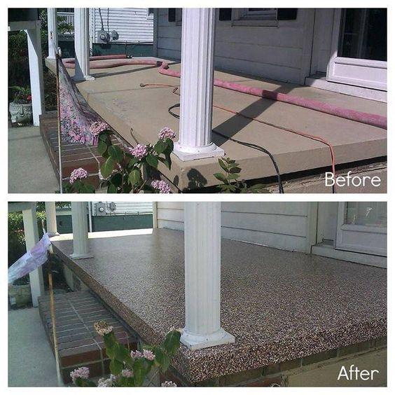 Concrete Porch Resurfacing