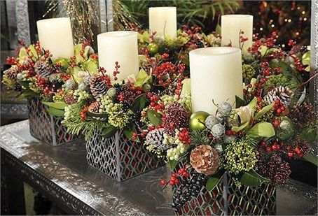 Christmas wedding flower arrangement