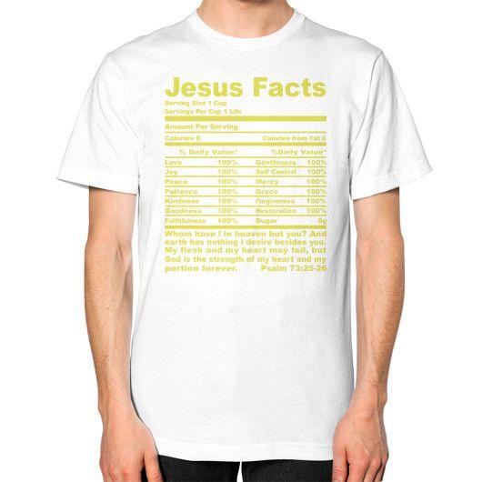 JESUS FACTS Unisex T-Shirt (on man)