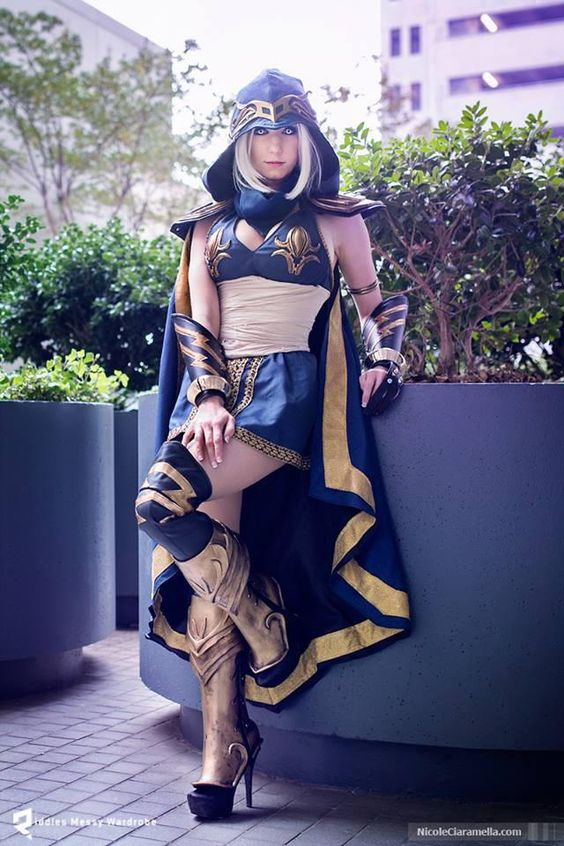 League of legends cosplay classic ashe riddle arrow light bow