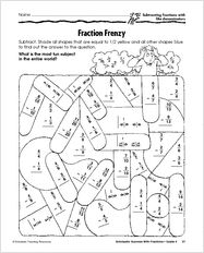 math worksheet : subtracting fractions with borrowing  adding and subtracting  : Fractions Unlike Denominators Worksheets