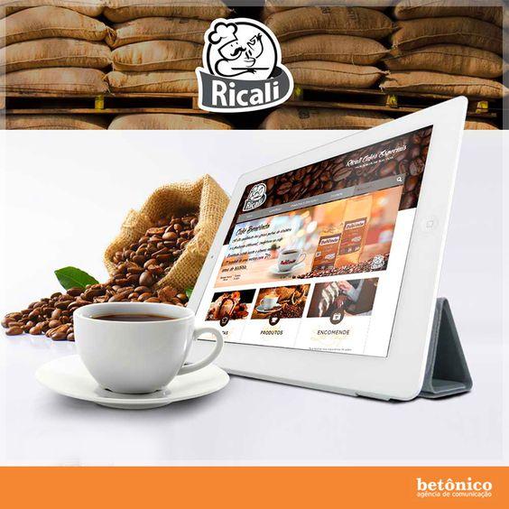 A Agência Betônico desenvolveu o novo site do Café Ricali de Cravinhos. Intuitivo e funcional, este projeto se caracteriza pela facilidade de navegação em diversas plataformas. Confira! www.ricali.adm.br #betônico #agência #publicidade #propaganda #pp #cliente #job #work #site #caféricali