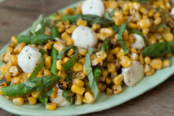 Asparagus, Basil and Corn Salad - perfect summer salad!