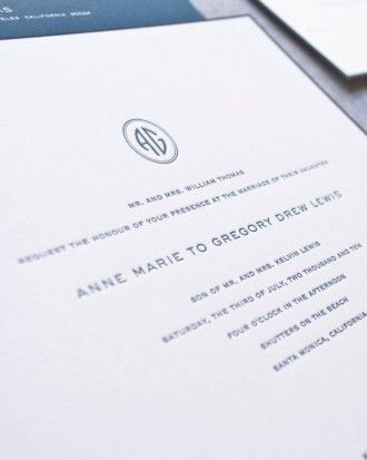 """See+the+""""Modern+Monogram""""+in+our+Classic+Wedding+Invitations+gallery"""