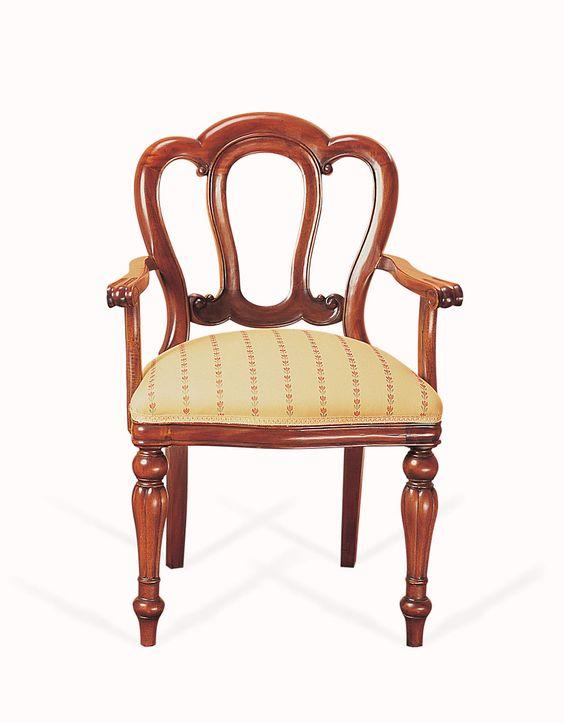SILLON ALMIRANTE en Keenreplicas.es  H95X60X50  Por lo general, las sillas que elegimos para la mesa del comedor no suelen tener reposabrazos. Sin embargo, cuando terminamos de comer o mientras esperamos entre plato y plato echamos de menos no tener donde apoyar los brazos. Así que, por qué no salirnos de lo habitual y decantarnos por las sillas con reposabrazos.