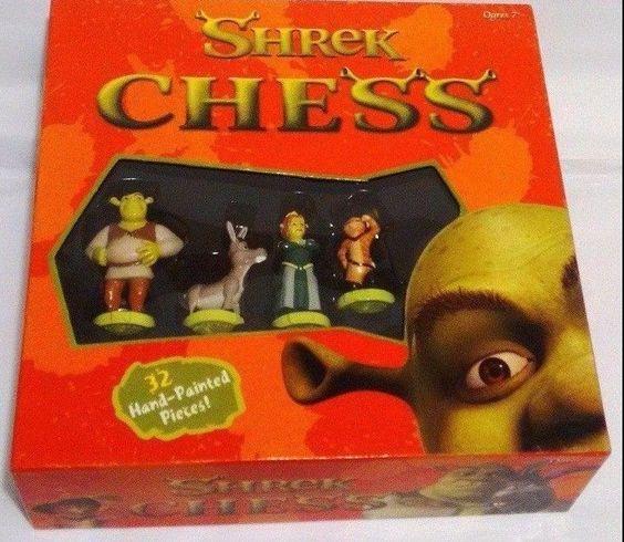 Shrek Chess Set DreamWorks Friendly Games Brand New Open Box #FriendlyGames