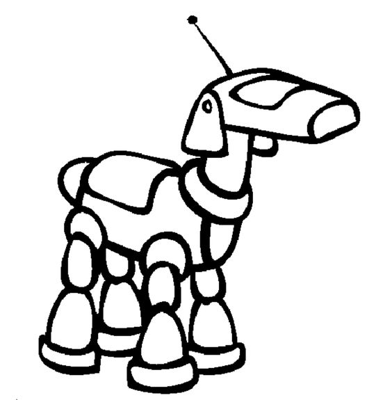 simple robot Colouring Pages page 3 crafty kids Pinterest
