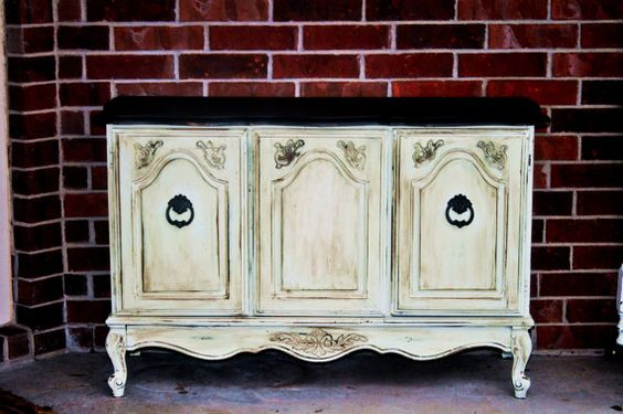 Beautiful shabby chic chest of drawers/tv stand off etsy. Would look so wonderful in a nursery room!