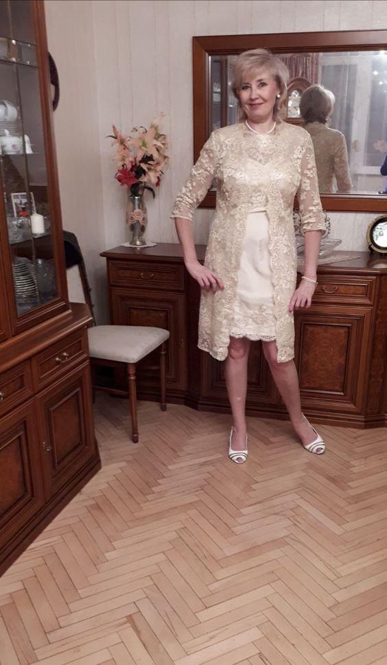 Tubo Decote redondo Coquetel Tafetá Vestido para a mãe da noiva (008085280) - JJsHouse