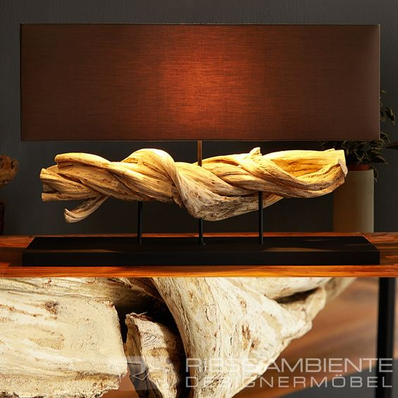 design treibholz lampe figuvine braun treibholz leuchte. Black Bedroom Furniture Sets. Home Design Ideas