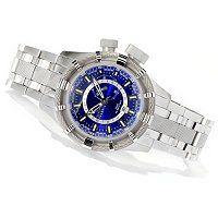 Invicta Reserve Men's Bolt Quartz GMT Stainless Steel Bracelet Watch w/ 3-Slot Dive Case