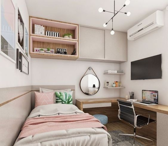 New small bedroom ideas that are look stylish and space saving 13