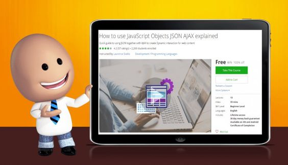 [100% Off] How to use JavaScript Objects JSON AJAX explained| Worth 75$