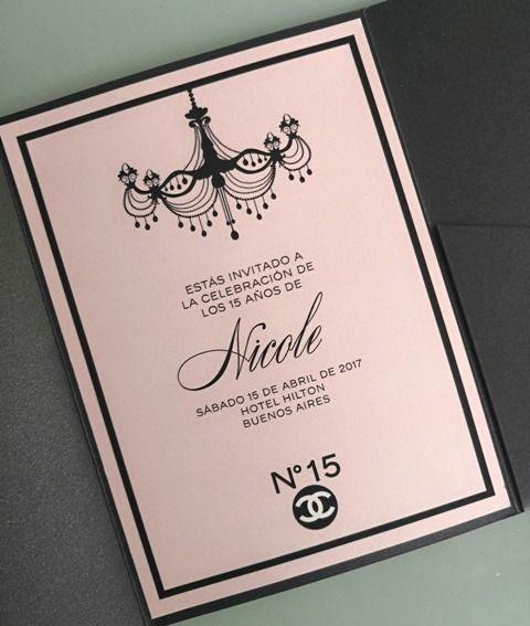 Invitación 15 Años Tq058 Chanel 15 Años Invitaciones