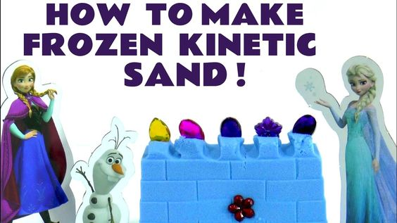 How To Make Frozen Kinetic Sand for Elsa Anna and Olaf | Fun family acti...