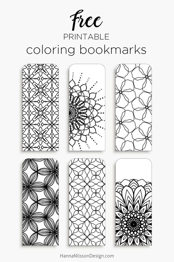 Color your own bookmarks - FREE printable bookmarks for coloring - blank bookmark template