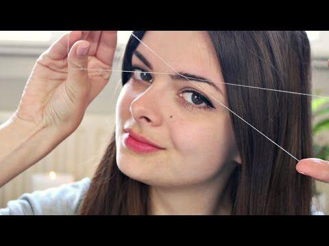DIY   UPPER LIP HAIR REMOVAL at Home   Himani Wright (Threading & Waxing Facial Hair Tutorial) - YouTube