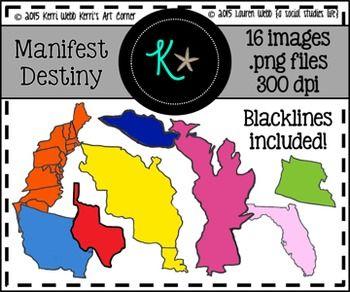 Manifest destiny clipart