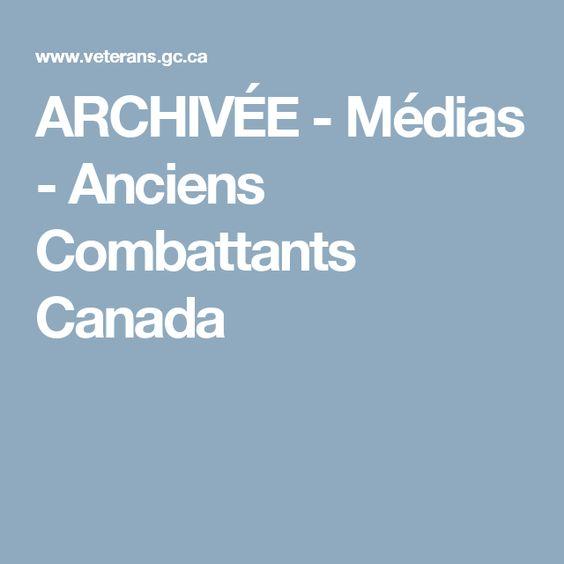 ARCHIVÉE - Médias - Anciens Combattants Canada