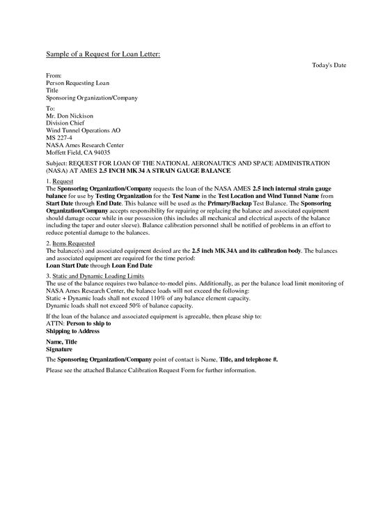 Business Loan Request Letter Free Printable Documents Lettering Proposal Templates Personal Loans
