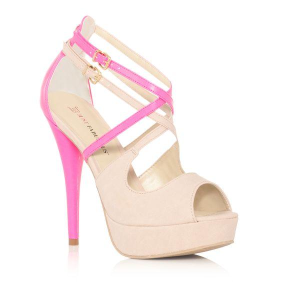 Love the pink heel