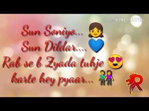 Sun Soniye Sun Dildar Hindi Song With Lyrics Youtube Female Songs Song Lyrics Songs