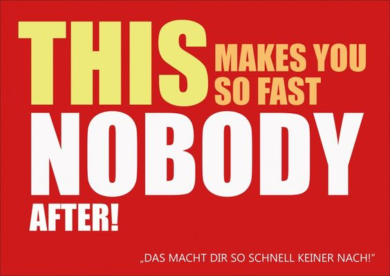 This makes you so fast nobody after. | Denglisch | Echte Postkarten online…