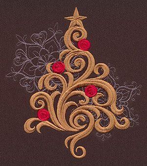 Baroque Noel - Tree design (UT7128) from UrbanThreads.com