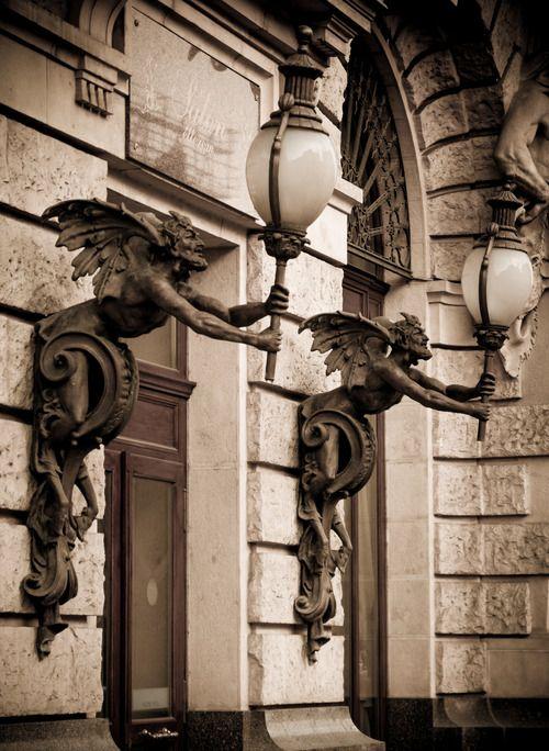 Boscolo Hotel, Budapest -  faun lamp posts