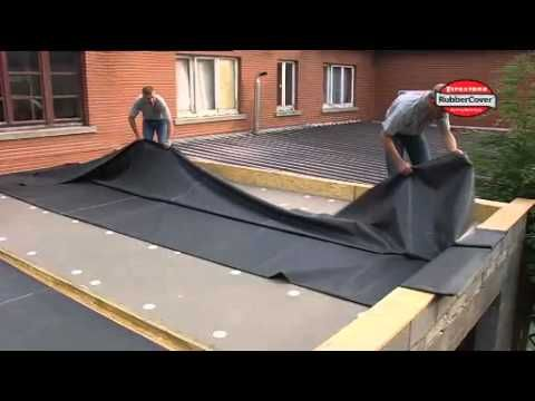 Firestone Rubbercover Epdm Rubbercover Installation D Youtube In 2020 Epdm Roofing Epdm Flat Roof Roof Installation