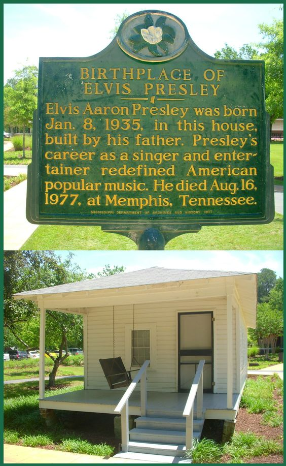 Birthplace of Elvis historical marker, Tupelo Mississippi