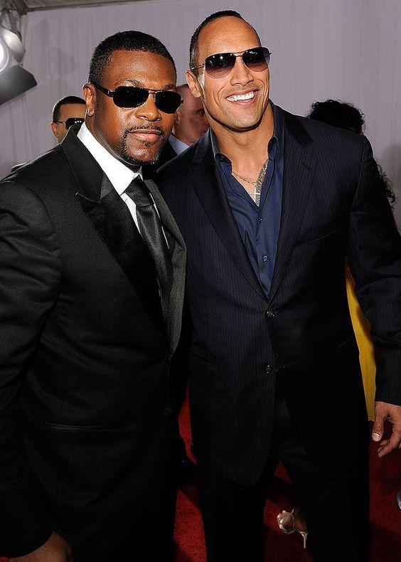 """Grammy Red Carpet: Men Chris Tucker & Dwayne """"The Rock"""" Johnson"""