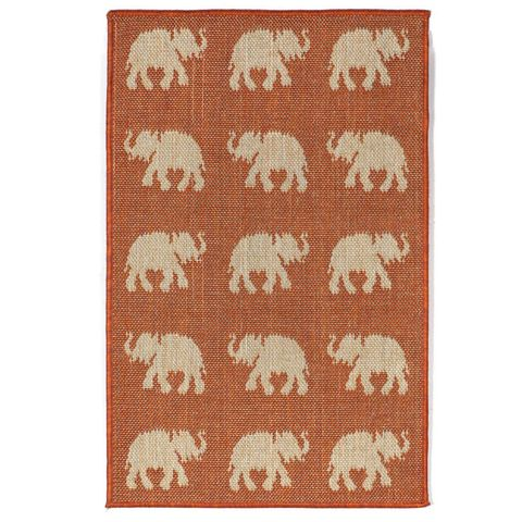 Lucky Elephants Indoor/Outdoor Rug